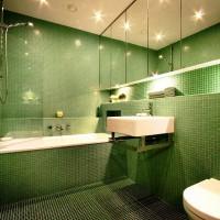 зеленая ванная комната фото 14
