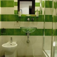 зеленая ванная комната фото 15