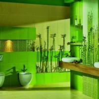 зеленая ванная комната фото 17
