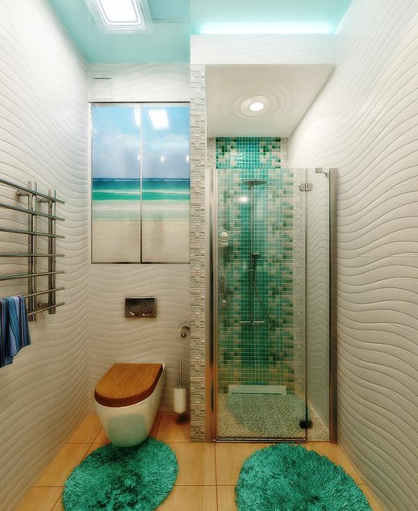 зеленая ванная комната фото 2