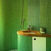 зеленая ванная комната фото 23