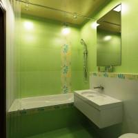 зеленая ванная комната фото 26