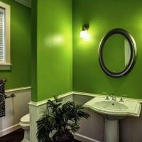 зеленая ванная комната фото 30