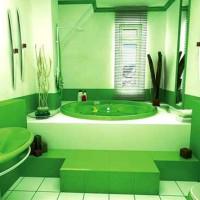 зеленая ванная комната фото 31