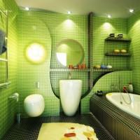 зеленая ванная комната фото 33