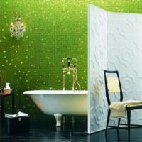 зеленая ванная комната фото 35