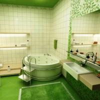 зеленая ванная комната фото 4