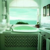 зеленая ванная комната фото 45