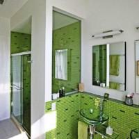 зеленая ванная комната фото 47