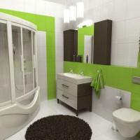 зеленая ванная комната фото 51