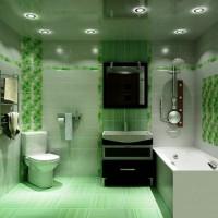 зеленая ванная комната фото 54