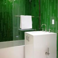 зеленая ванная комната фото 6