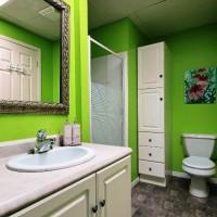 зеленая ванная комната фото 9