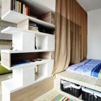 зонирование комнаты на спальню и гостиную фото 15