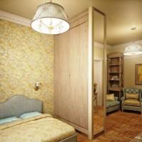 зонирование комнаты на спальню и гостиную фото 17