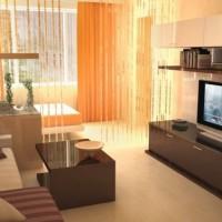 зонирование комнаты на спальню и гостиную фото 23