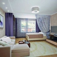 зонирование комнаты на спальню и гостиную фото 29
