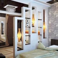 зонирование комнаты на спальню и гостиную фото 32