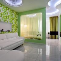 зонирование комнаты на спальню и гостиную фото 34