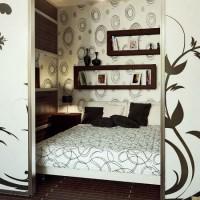 зонирование комнаты на спальню и гостиную фото 37