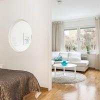 зонирование комнаты на спальню и гостиную фото 43
