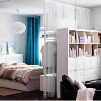 зонирование комнаты на спальню и гостиную фото 46