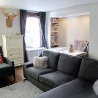 зонирование комнаты на спальню и гостиную фото 48
