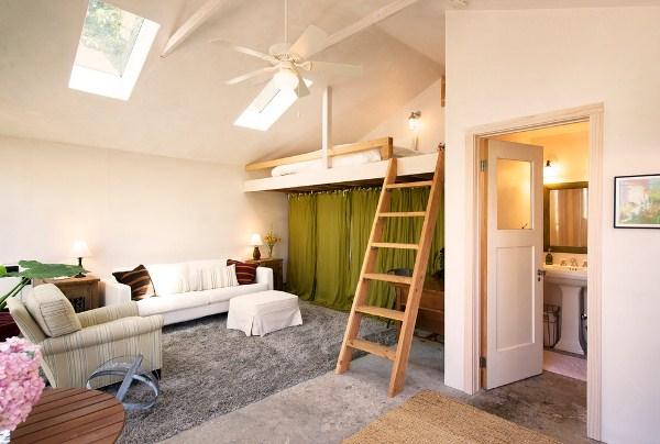 зонирование комнаты на спальню и гостиную фото 5