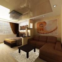 зонирование комнаты на спальню и гостиную фото 54
