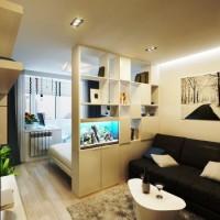 зонирование комнаты на спальню и гостиную фото 56