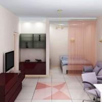 зонирование комнаты на спальню и гостиную фото 57