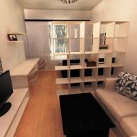 зонирование комнаты на спальню и гостиную фото 60