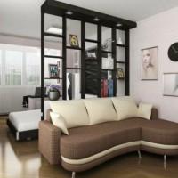 зонирование комнаты на спальню и гостиную фото 64