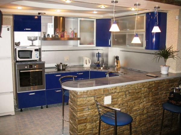 угловая кухня с барной стойкой фото 10