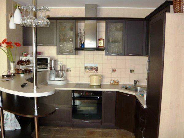 угловая кухня с барной стойкой фото 12