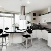 угловая кухня с барной стойкой фото 22