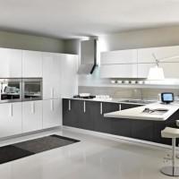 угловая кухня с барной стойкой фото 24