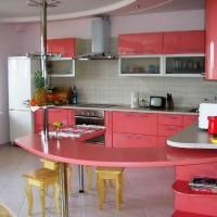 угловая кухня с барной стойкой фото 32