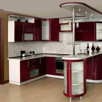 угловая кухня с барной стойкой фото 34