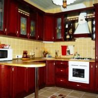 угловая кухня с барной стойкой фото 41