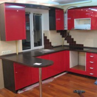 угловая кухня с барной стойкой фото 43