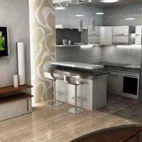 угловая кухня с барной стойкой фото 47