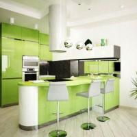 угловая кухня с барной стойкой фото 48