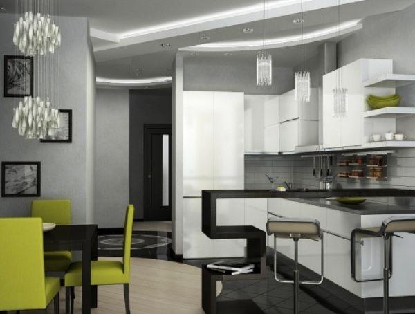 угловая кухня с барной стойкой фото 7