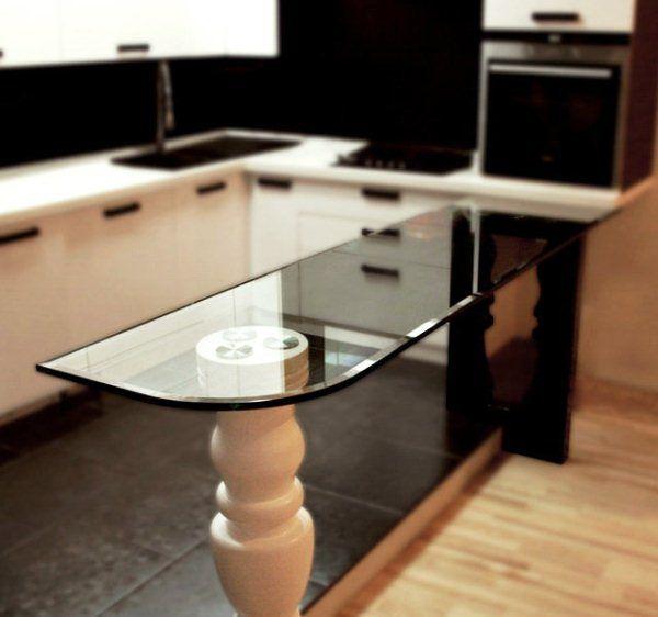 угловая кухня с барной стойкой фото 8