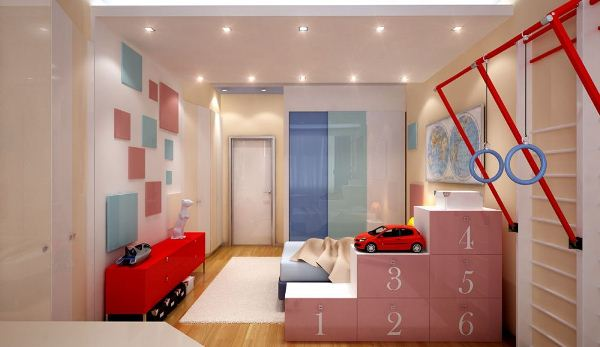 зонирование детской комнаты фото 11