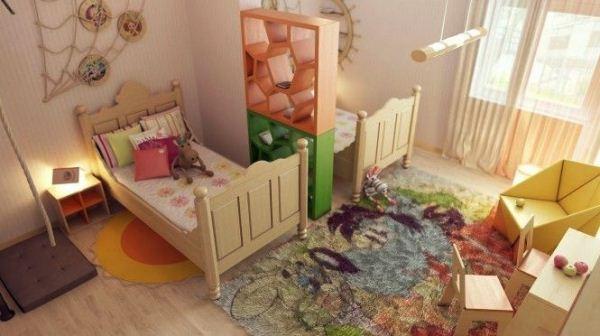 зонирование детской комнаты фото 13