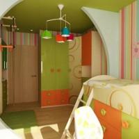 зонирование детской комнаты фото 47