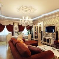 гостиная в классическом стиле фото 13