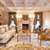 гостиная в классическом стиле фото 15